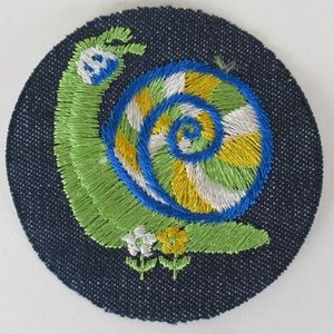 Accessories - 70's deadstock snail iron on patch